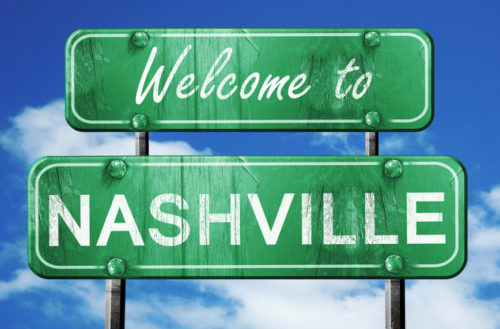 Welcome to Nashville sign